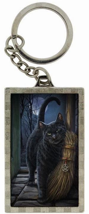 Photo of A Brush With Magic Black Cat 3D Keyring (Lisa Parker)