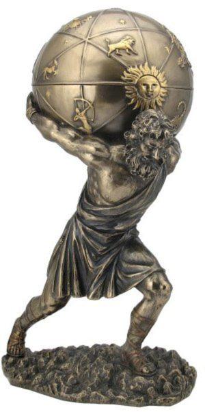 Photo of Atlas Bronze Figurine and Trinket Box