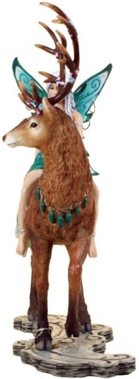 Photo of Aya Forest Fairy and Stag Figurine 19.5cm