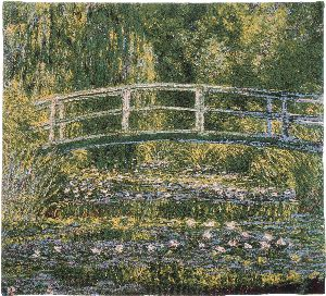 Phot of Bridge Of Giverny By Monet Wall Tapestry Ii