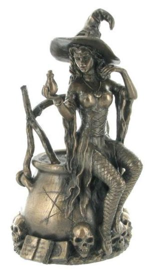 Photo of Bronze Witch Figurine