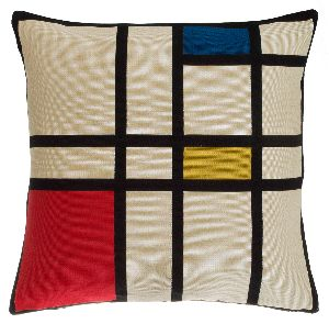 Phot of Composition II in Red Blue & Yellow by Mondrian Tapestry Cushion