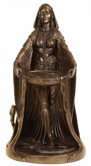 Photo of Danu Mother of the Gods Bronze Figurine 23 cm