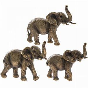 Photo of Elephant Family Bronze Figurines Set of 3