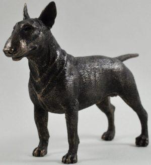 Photo of English Bull Terrier Standing Bronze Dog Sculpture 14.5cm
