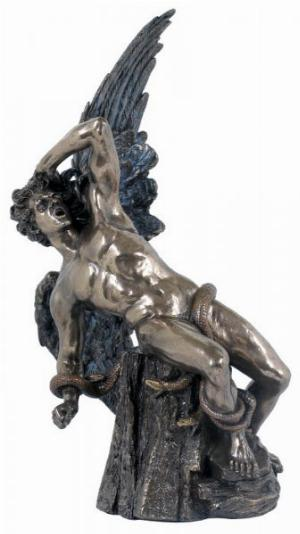 Photo of Fallen Lucifer Bronze Figurine