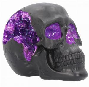 Photo of Geode Black Skull Ornament