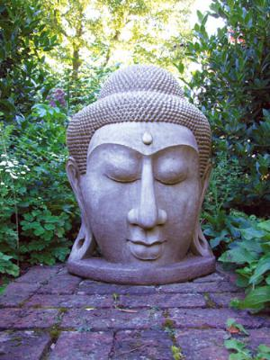 Photo of Giant Buddha Head Stone Statue