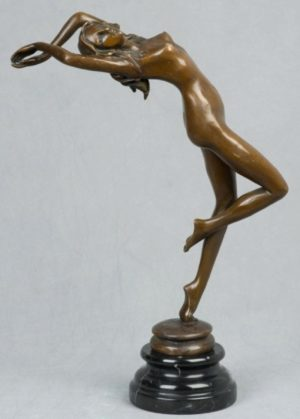Photo of Graceful Nude Lady Bronze Figurine