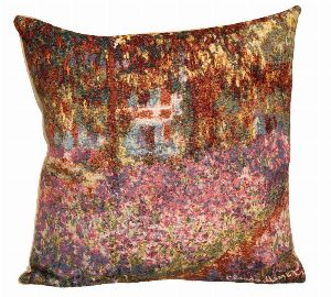 Phot of Irises By Monet Tapestry Cushion