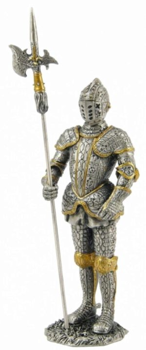 Photo of Knight with Halberd Pewter Figurine
