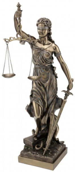 Photo of Lady Justice Bronze Figurine Large 50 cm