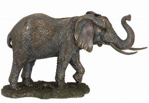 Photo of Large Bronze Elephant Standing 33cm