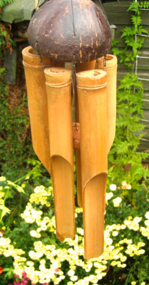 Photo of Large Chunky Natural Bamboo Wind Chime