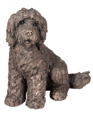 Photo of Lucy the Cockapoo Sitting Bronze Sculpture (Frith) 20 cm