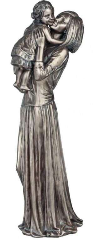 Photo of Mother and Child Bronze Figurine 30 cm