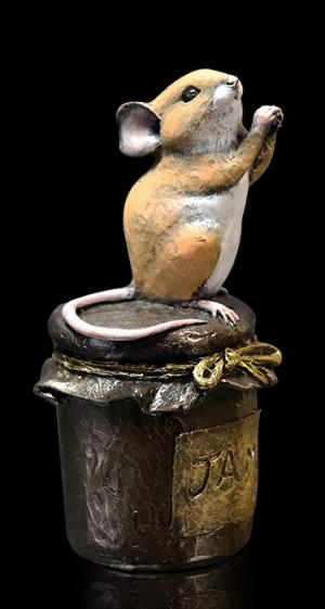 Photo of Mouse on Jam Jar Bronze Figurine Michael Simpson