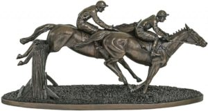 Photo of Over The Last Bronze Horse Sculpture 47cm Large
