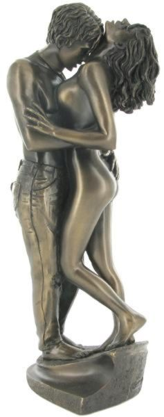Photo of Passionate Lovers Bronze Figurine (Love is Blue)