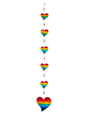 Photo of Rainbow Hearts Suncatcher 82 cm