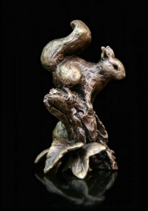 Photo of Red Squirrel Bronze Miniature (Butler and Peach)