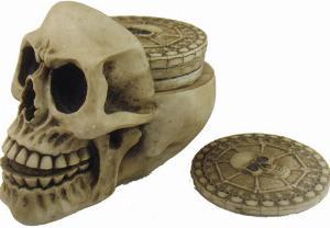 Photo of Resting Place Skull Coaster Set
