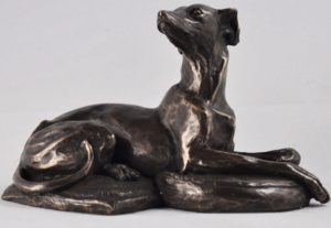 Photo of Resting Whippet Dog Bronze Sculpture 13cm (Harriet Glen)