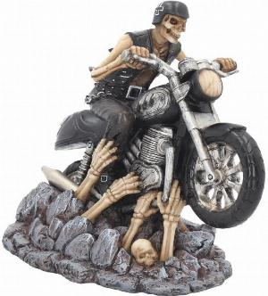 Photo of Ride out of Hell Skeleton Biker Figurine James Ryman 18cm