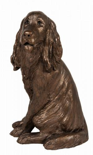 Photo of Sam Cocker Spaniel Sitting Bronze Figurine Paul Jenkins