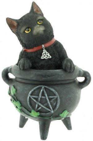 Photo of Smudge Black Cat Figurine 12cm