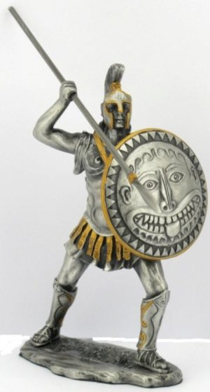 Photo of Spartan Warrior with Spear Pewter Figurine