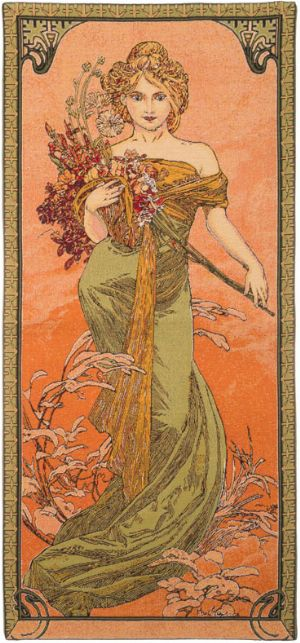 Phot of Spring By Mucha Wall Tapestry