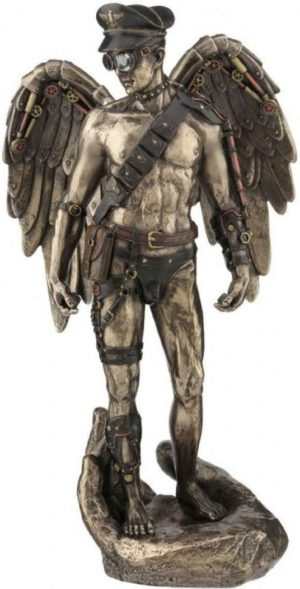 Photo of Steampunk Angelic Guardian Bronze Figurine 30cm