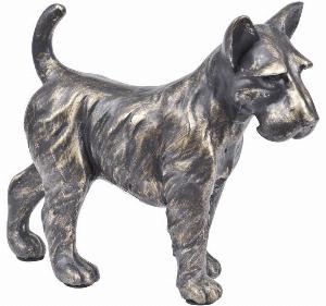 Photo of Terrier Standing Antique Bronze Finish Figurine