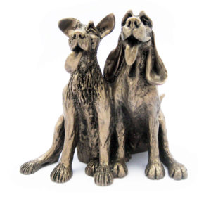 Photo of Tom and Fred Dogs Sculpture