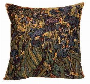 Phot of Van Gogh Irises Tapestry Cushion 1