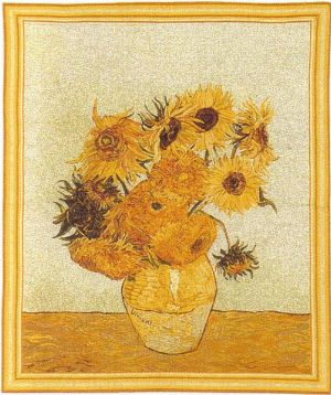 Phot of Van Gogh Sunflowers Wall Tapestry