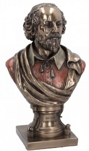 Photo of William Shakespeare Bronze Figurine 23cm