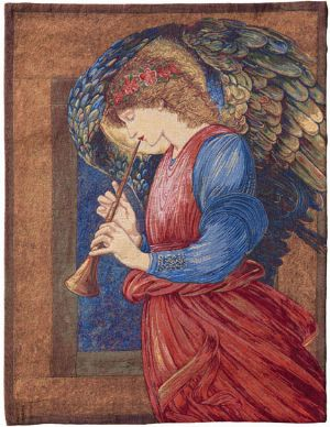 Phot of Angel With Flageolet Wall Tapestry