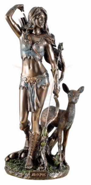 Photo of Artemis Goddess of the Hunt Bronze Figurine 25 cm