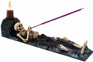 Photo of Ashes to Ashes Skeleton Candle Holder 28cm