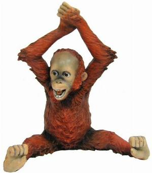 Photo of Baby Orangutan Arms Over Head Figurine