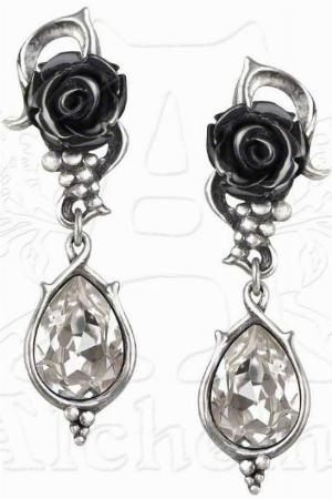 Photo of Bacchanal Rose Dropper Stud Earrings (Pair)