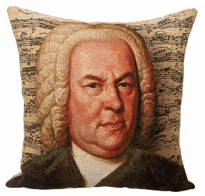 Phot of Bach Composer Tapestry Cushion