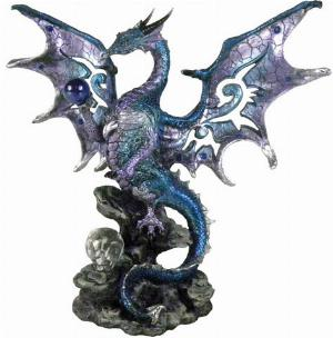 Photo of Blue Wise Dragon Figurine Alator