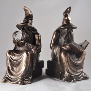 Photo of Bronze Wizard Bookends