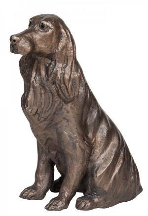 Photo of Bunty Spaniel Sitting Bronze Figurine Paul Jenkins
