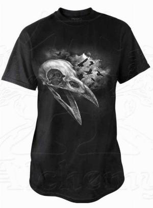 Photo of Corvinculus Raven Skull T Shirt Alchemy Gothic