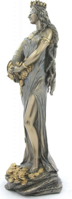 Photo of Goddess Fortuna Bronze Figurine Tykhe 29 cm