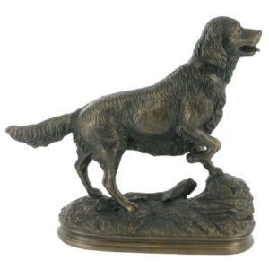 Photo of Golden Retriever Bronze Figurine
